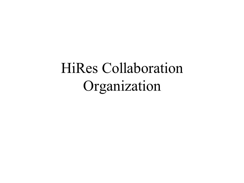 HiRes Institutions and PI's University of Utah (NSF) - P.