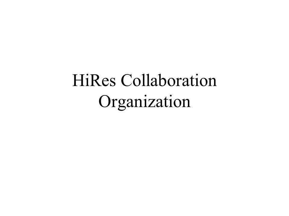 HiRes Collaboration Organization