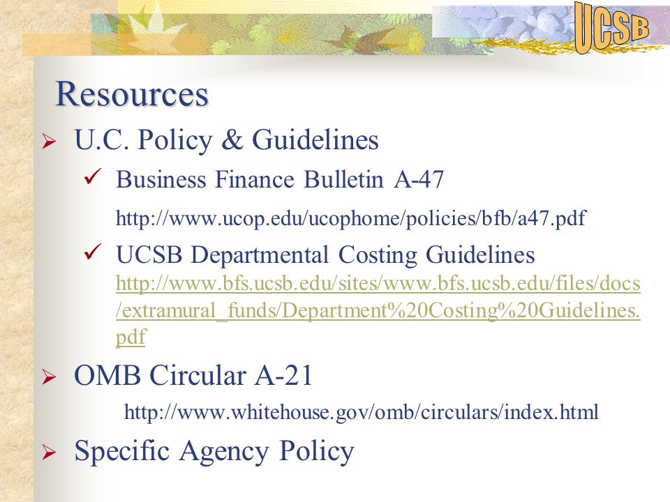 Resources Resources  U.C.