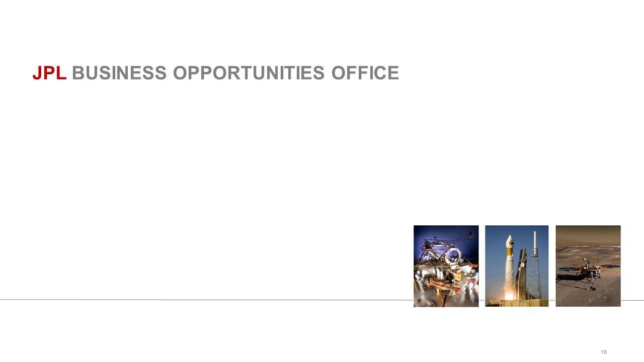 16 JPL BUSINESS OPPORTUNITIES OFFICE