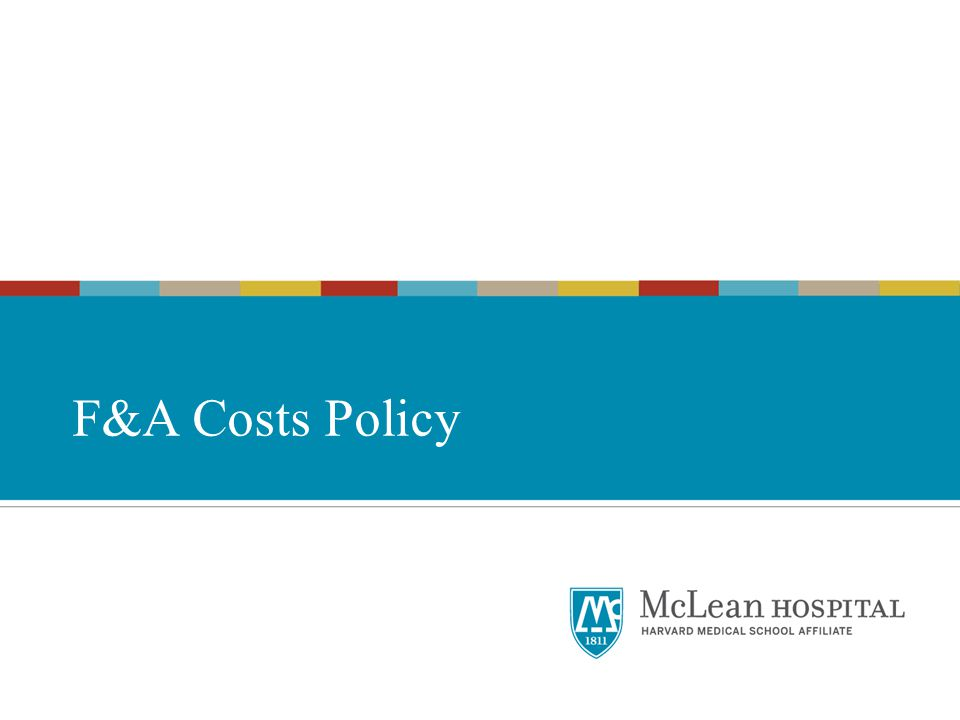 F&A Costs Policy