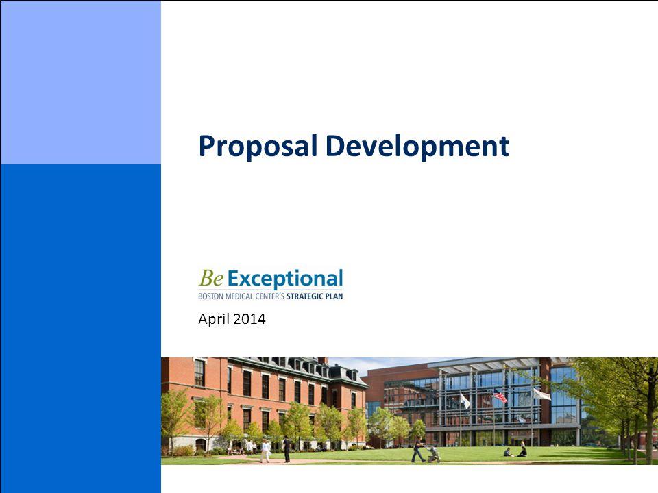 Proposal Development April 2014