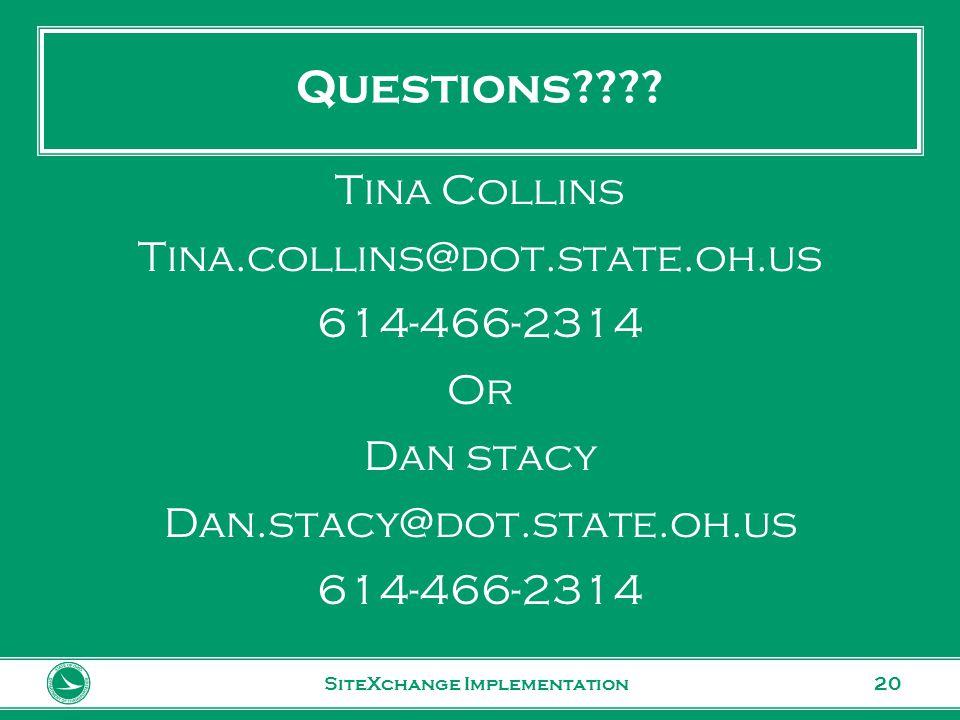 www.transportation.ohio.gov 20 Questions???.