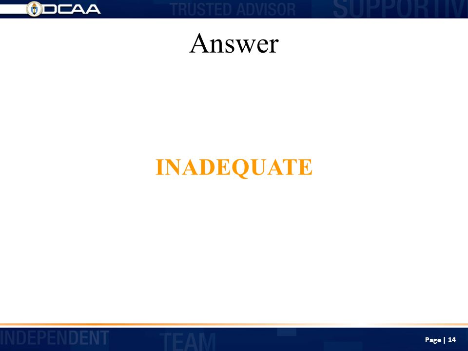 Answer INADEQUATE Page | 14