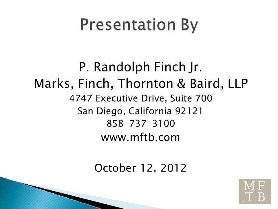 P. Randolph Finch Jr.
