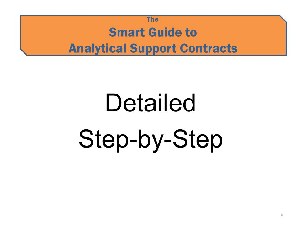 The Smart Guide to Analytical Support Contracts Detailed Step-by-Step 8