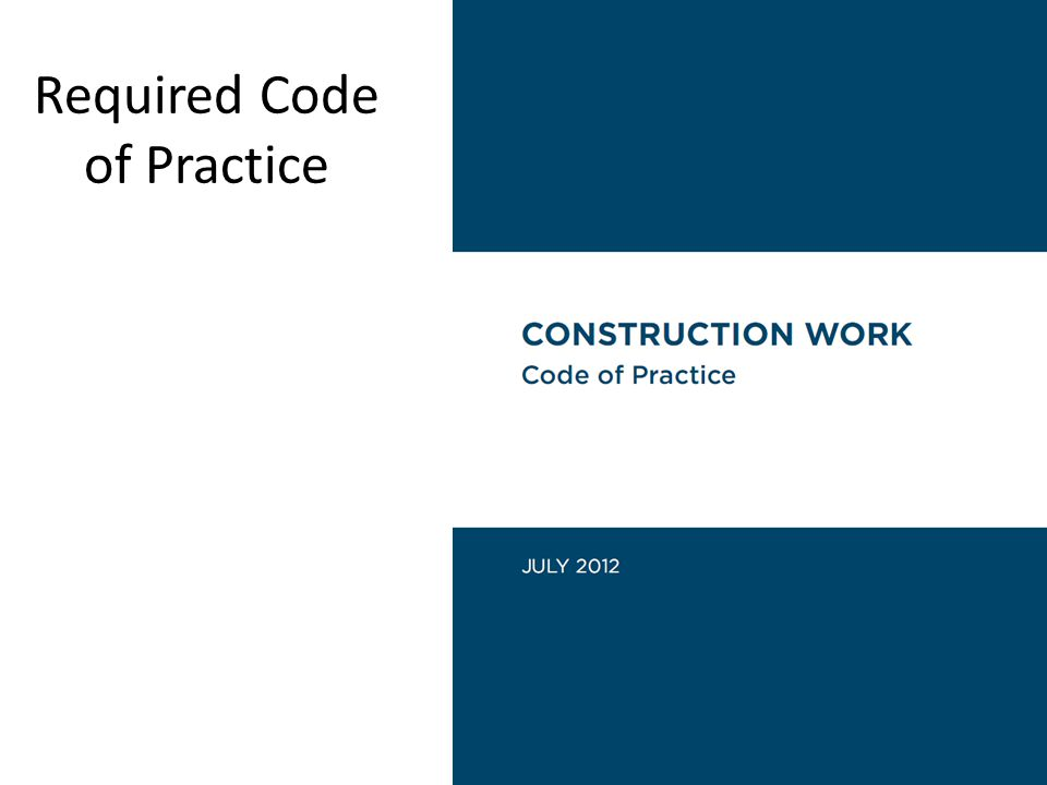 Required Code of Practice