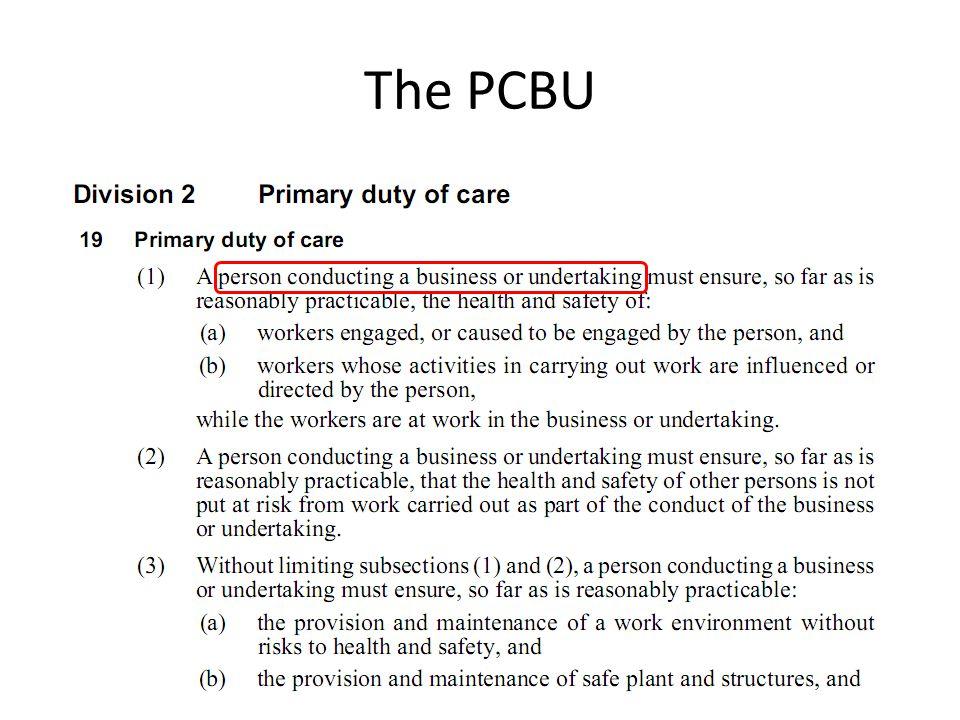 The PCBU