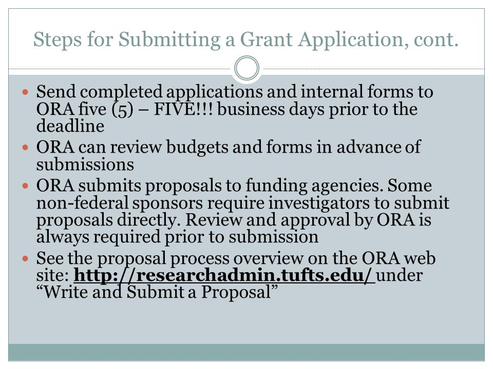 Steps for Preparing a Sponsored Research Agreement Processed by both ORA and OTL&IC ORA is only involved when the agreement carries funding Budgets are reviewed by ORA Internal forms must be sent by the departments to ORA, not to OTL&IC ORA distributes fully executed agreements with supporting paperwork to Sponsored Accounting Either ORA or OTL&IC can negotiate agreement terms Intellectual property (IP) terms are primarily negotiated by OTL&IC