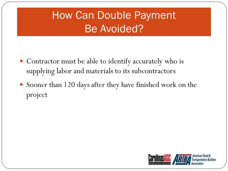 How Can Double Payment Be Avoided.