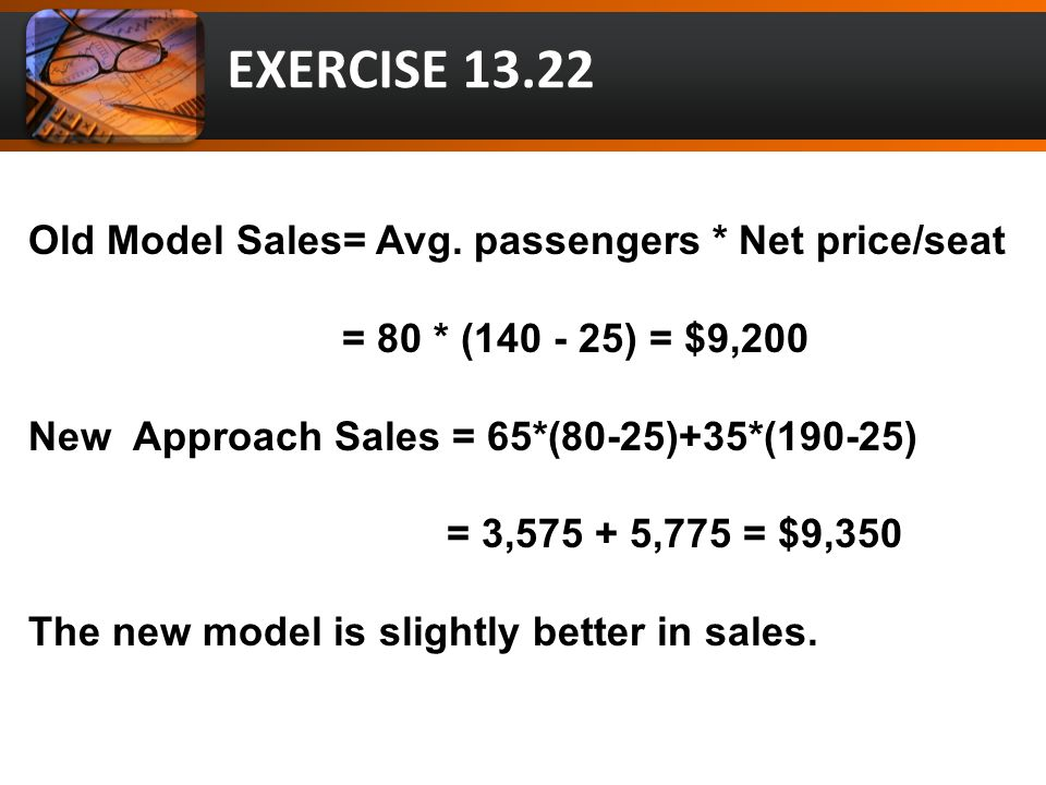 Old Model Sales= Avg.