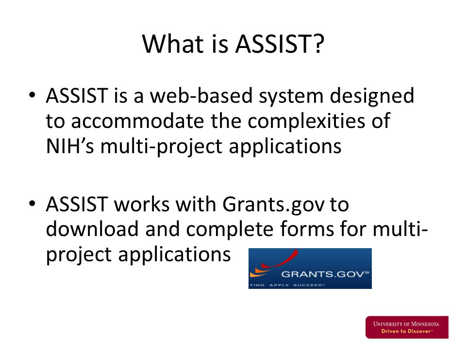 What is ASSIST.