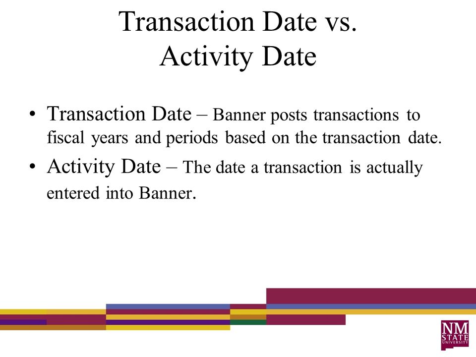 Transaction Date vs.