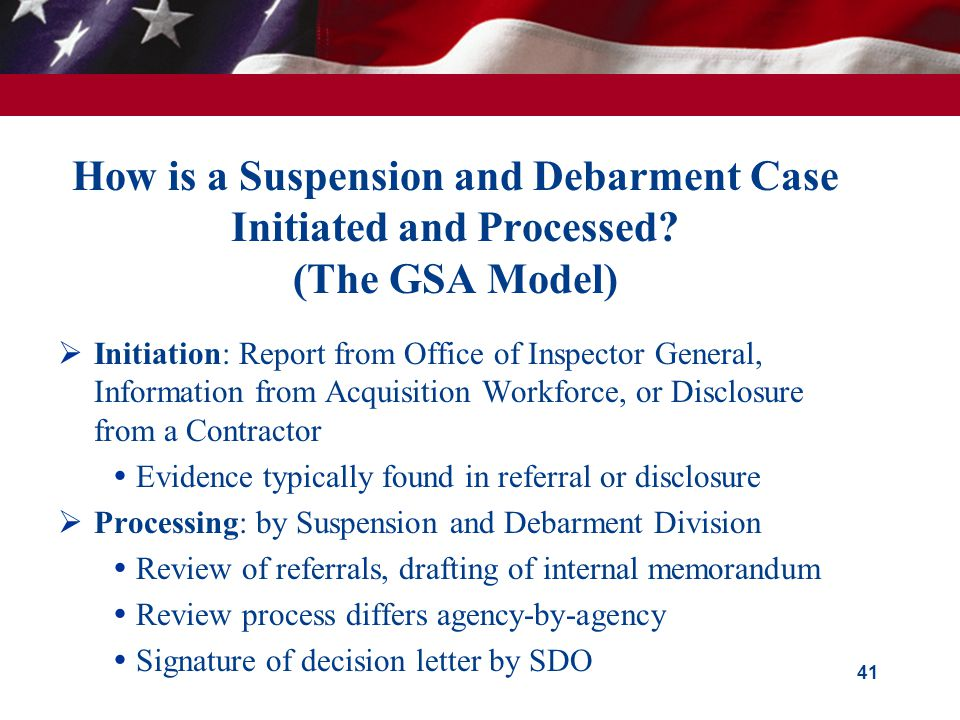 How is a Suspension and Debarment Case Initiated and Processed.