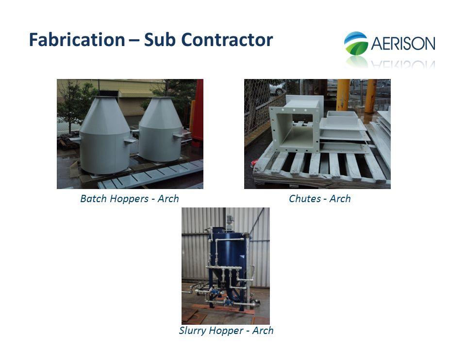 Fabrication – Sub Contractor Slurry Hopper - Arch Batch Hoppers - ArchChutes - Arch