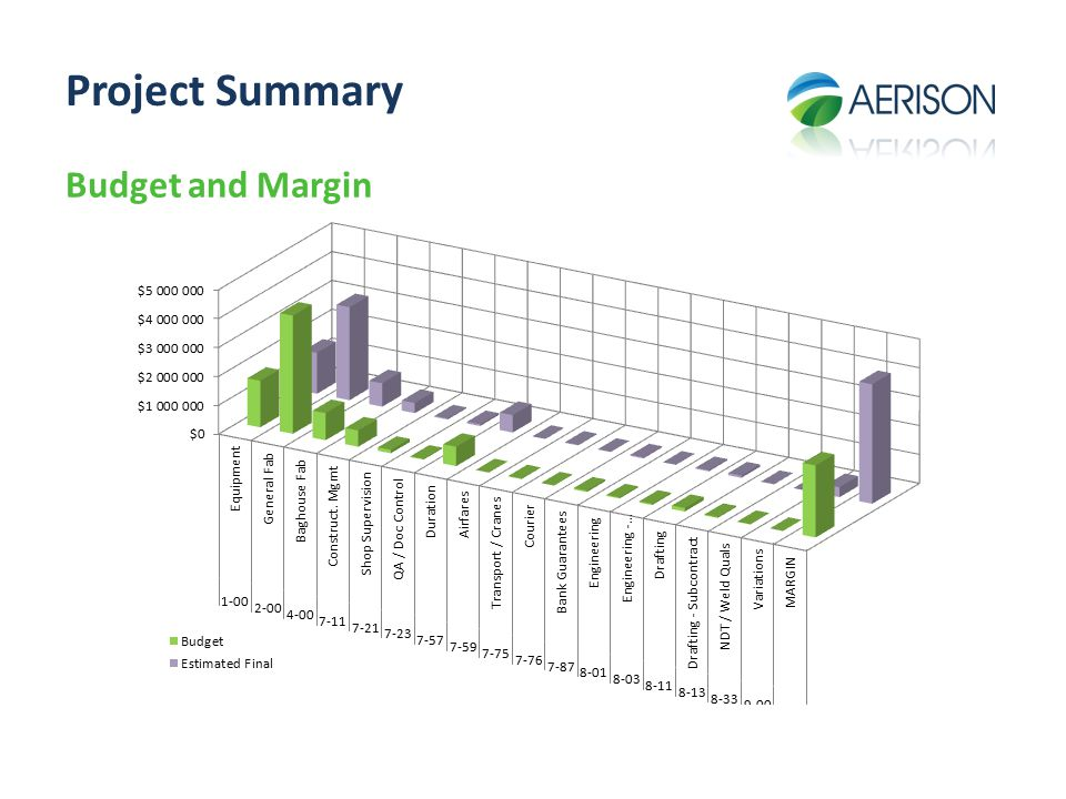 Project Summary Budget and Margin