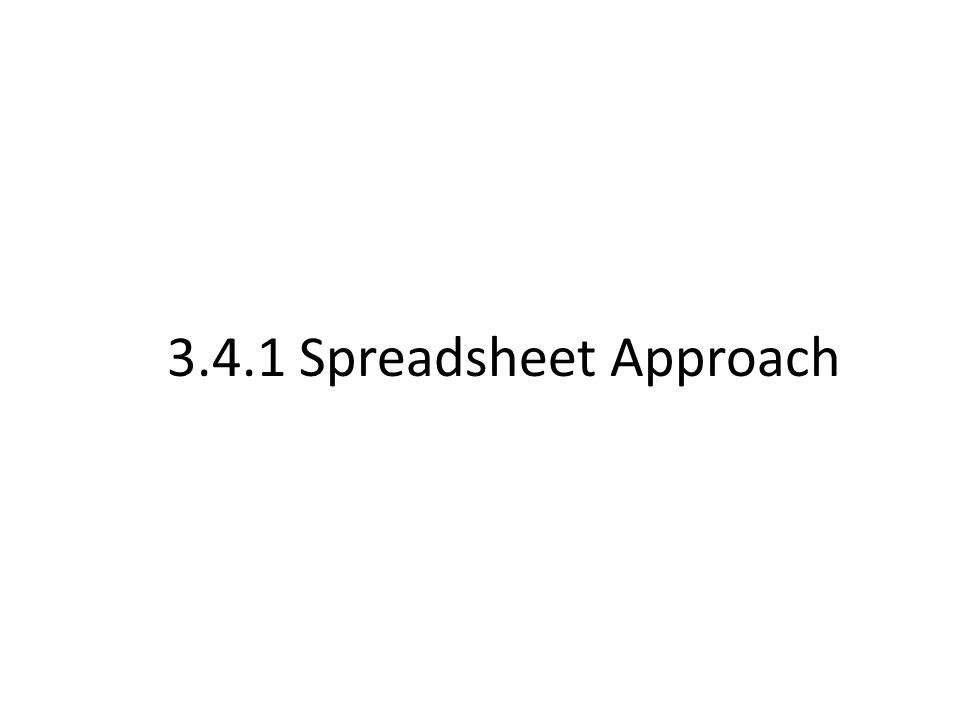 3.4.1 Spreadsheet Approach