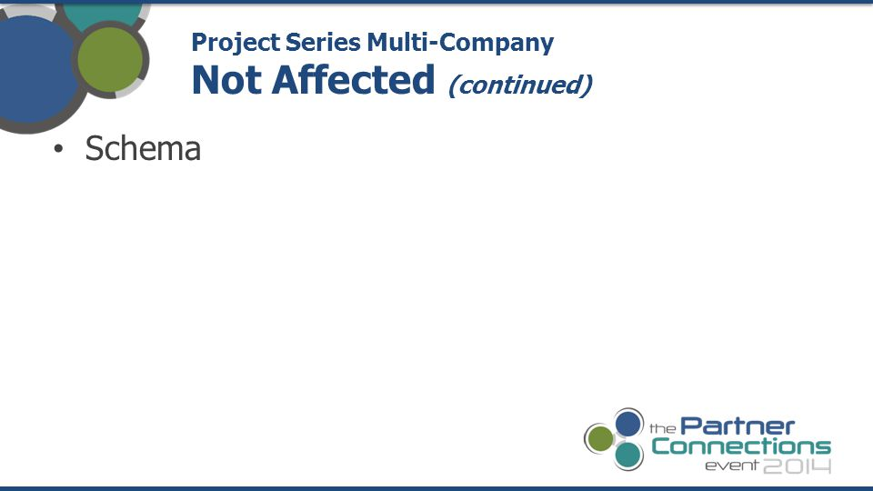 Schema Project Series Multi-Company Not Affected (continued)