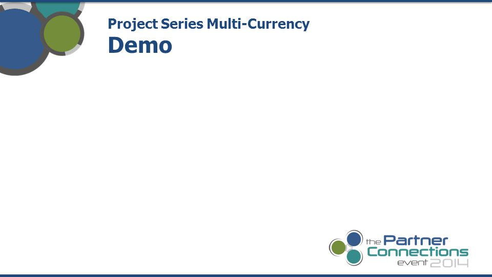 Project Series Multi-Currency Demo