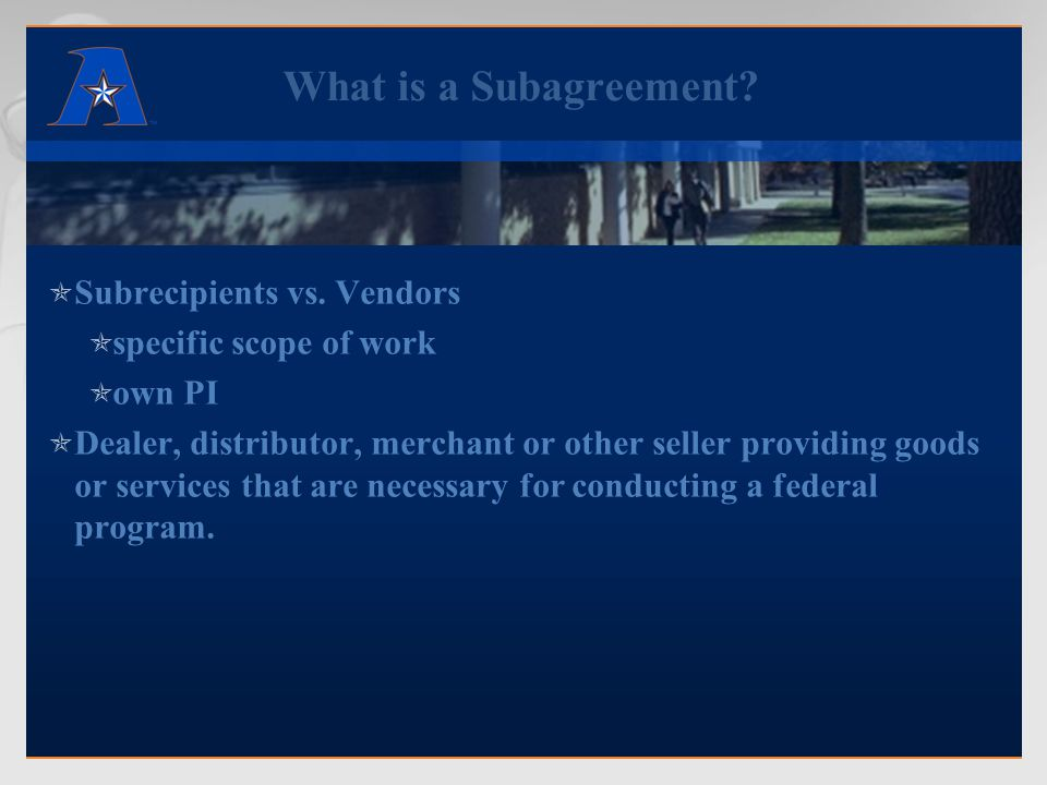 Subcontract vs.Consulting Agreement  What is a Consultant.