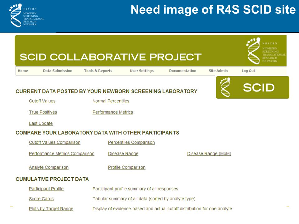 Need image of R4S SCID site