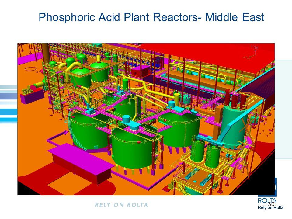30 Phosphoric Acid Plant Reactors- Middle East