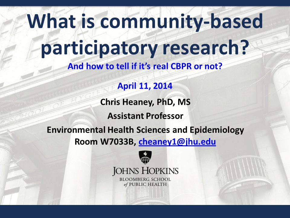 What is community-based participatory research. And how to tell if it's real CBPR or not.