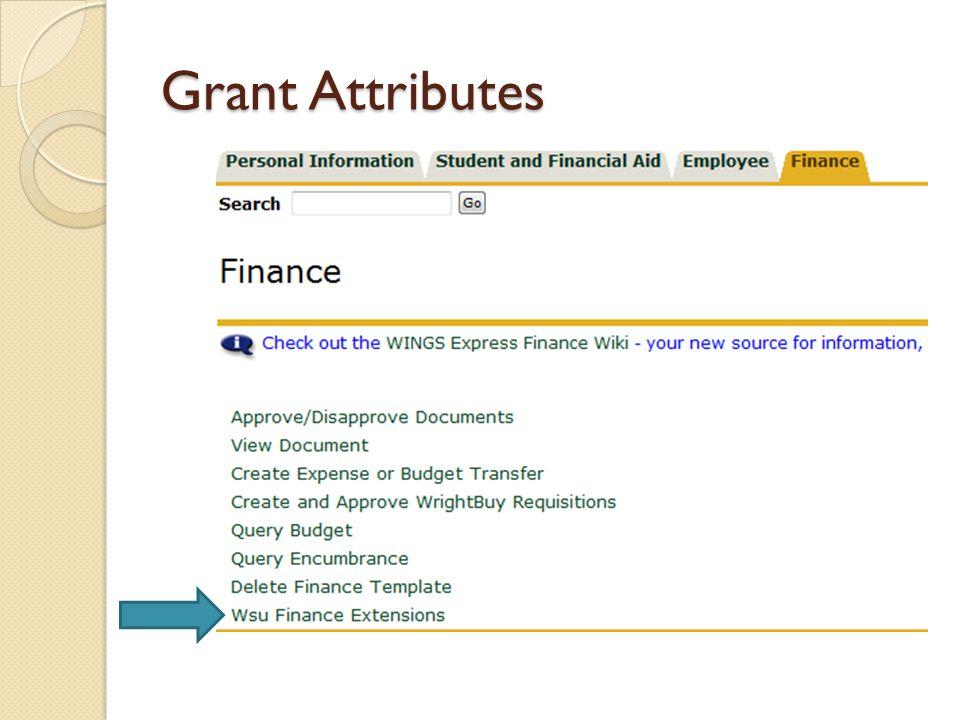 Grant Attributes