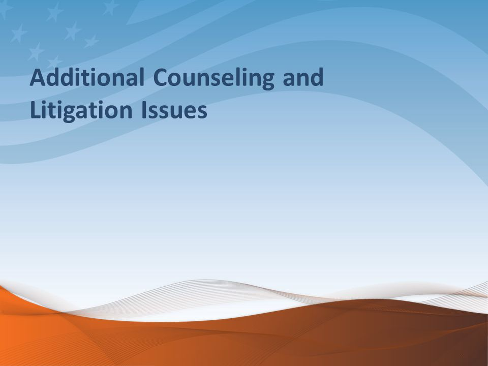 Additional Counseling and Litigation Issues