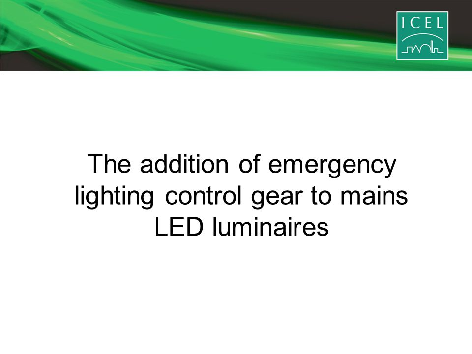 The addition of emergency lighting control gear to mains LED luminaires