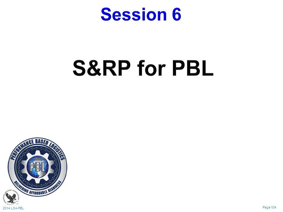 2014 LOA PBL Page 104 Logistics & Sustainment