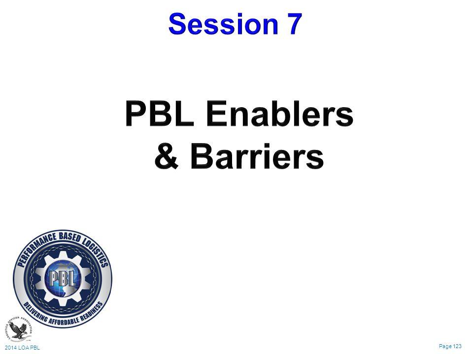 2014 LOA PBL Page 123 Logistics & Sustainment