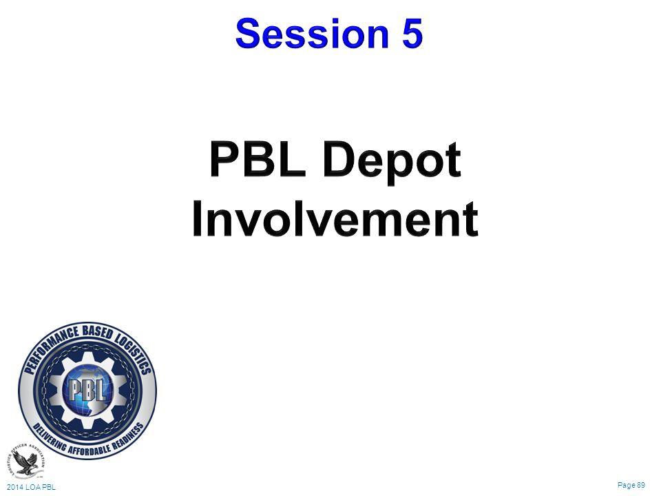 2014 LOA PBL Page 89 Logistics & Sustainment