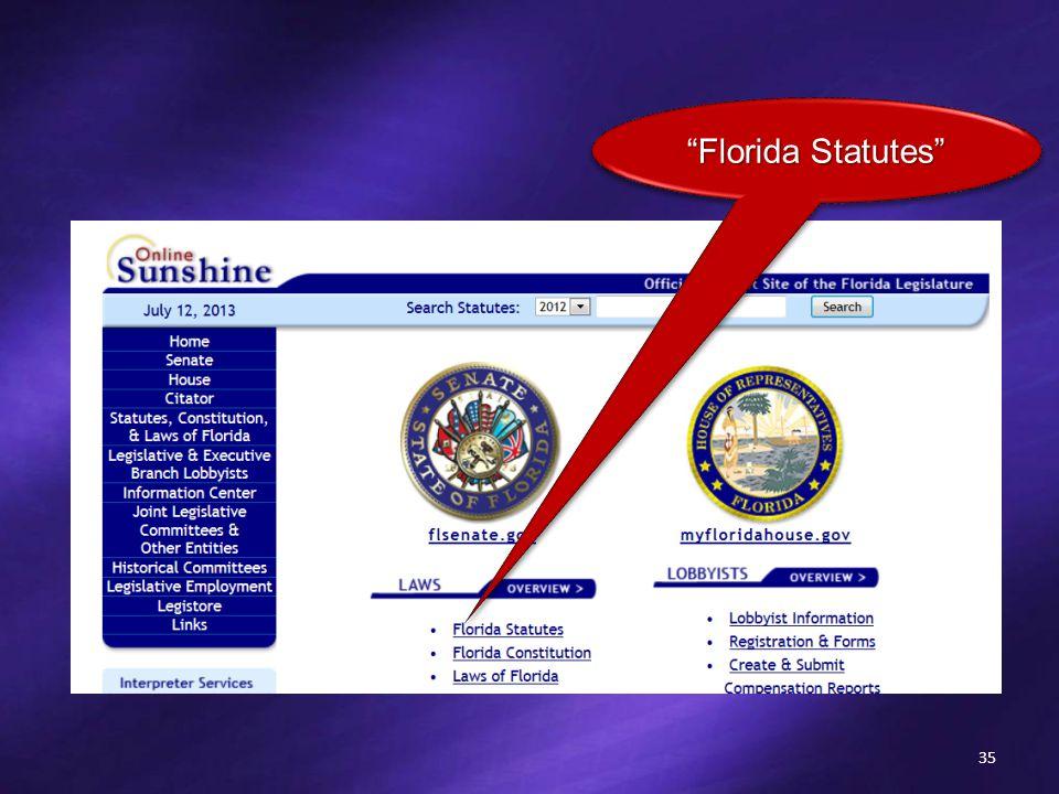 35 Florida Statutes