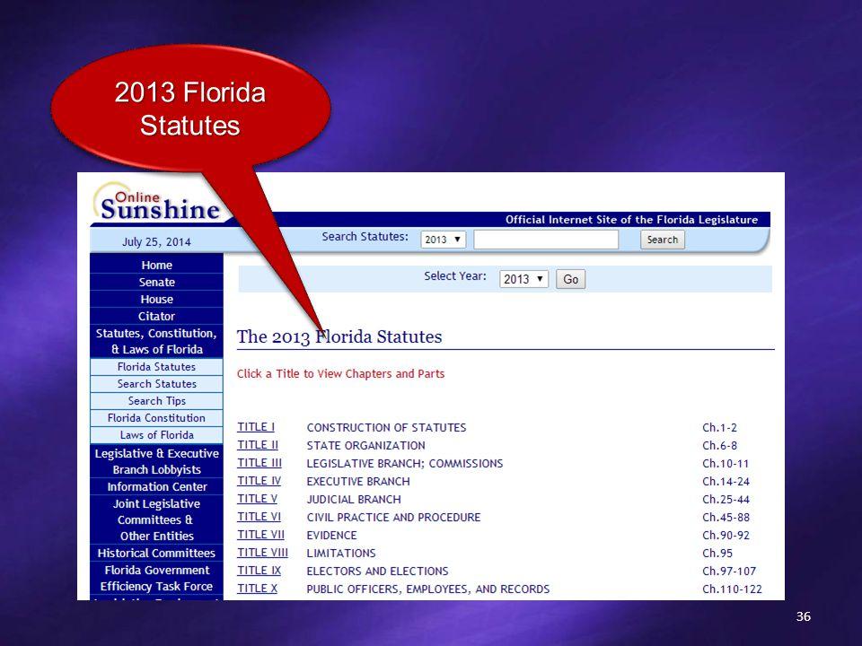 36 2013 Florida Statutes