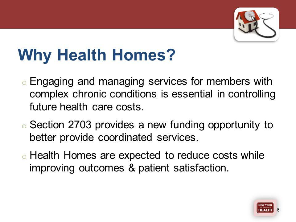 Why Health Homes.