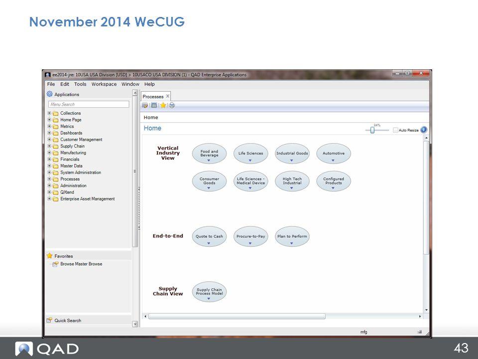43 November 2014 WeCUG