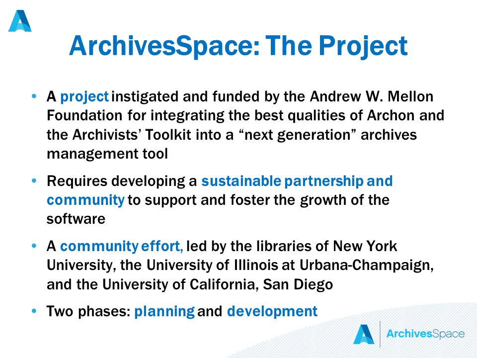 A project instigated and funded by the Andrew W.