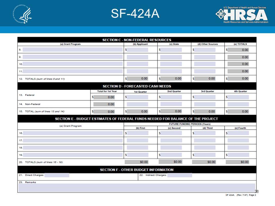 SF-424A 37