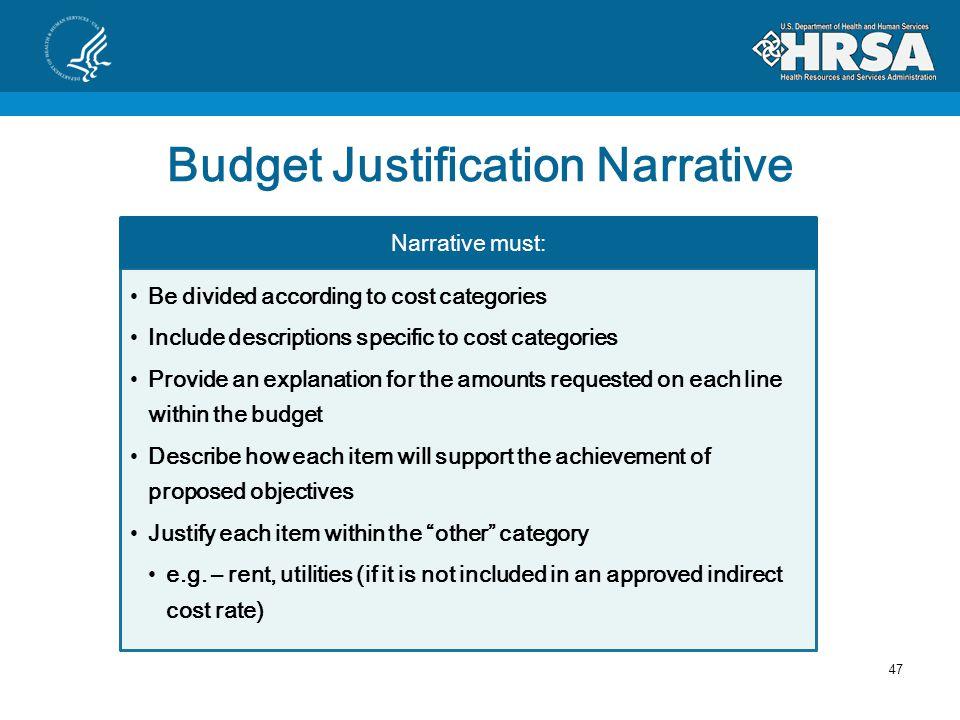 Part C Budget Documents 46 Budget Justification Narrative