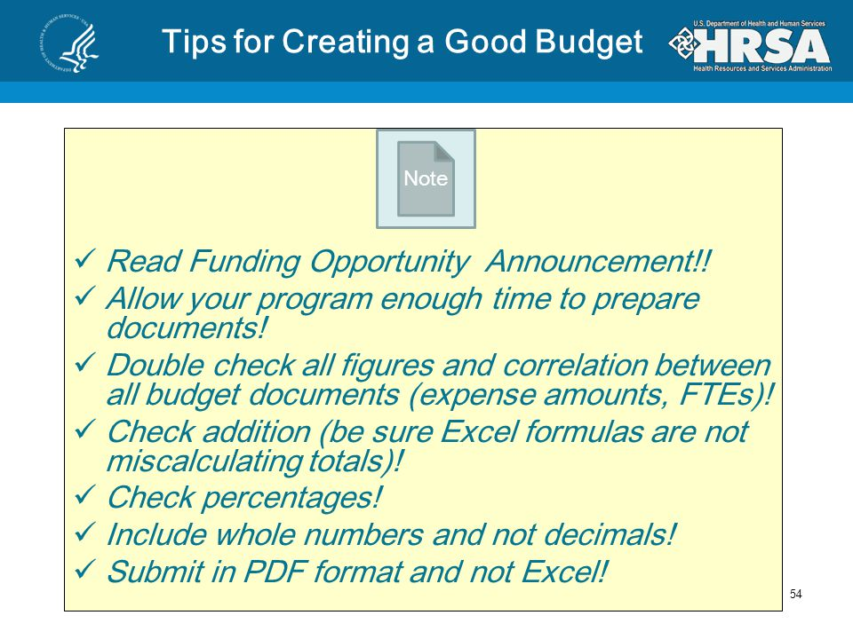 Common Issues with Budgets Budget documents do not all match Expenses are allocated to an incorrect cost category Budget category totals are incorrect Percentages are miscalculated Personnel exceed the salary limitation requirements Expenses are included that are not allowable Documents are not in proper format Budget grand total does not match total award.