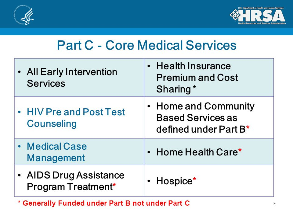 Part C Budget Justification Personnel (and Fringe) Core Medical Services/EIS Core Medical ONLY Clinical Quality Management Support Services Administration TravelEquipmentSuppliesContractualOtherIndirect Costs Object Class Repeat cost category descriptions when applicable within each budget class category Note 49