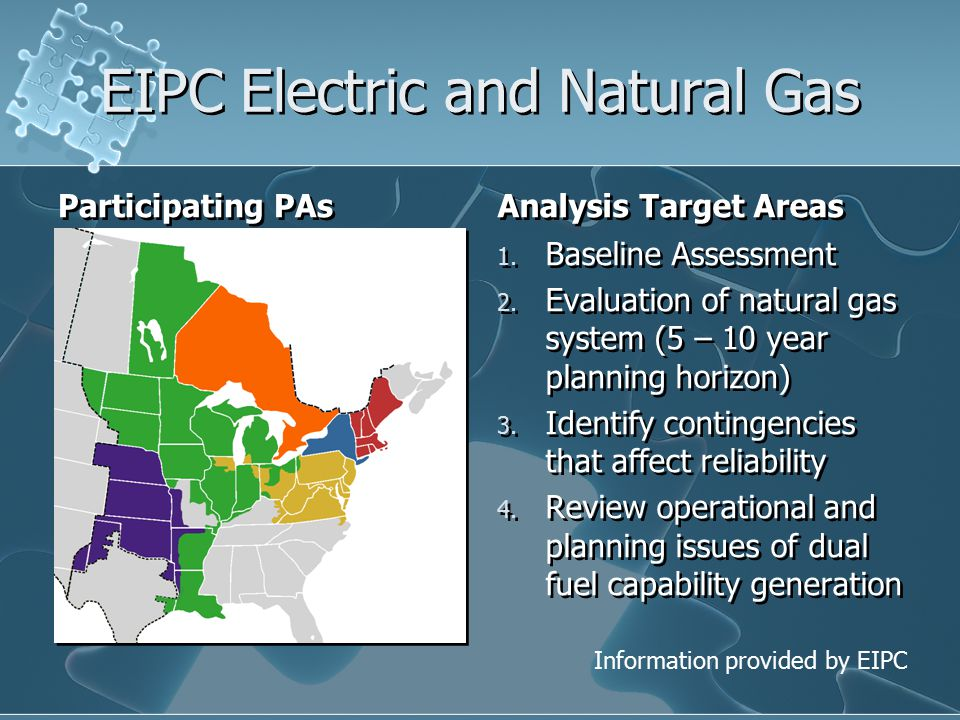 EIPC Electric and Natural Gas Participating PAs Analysis Target Areas 1.