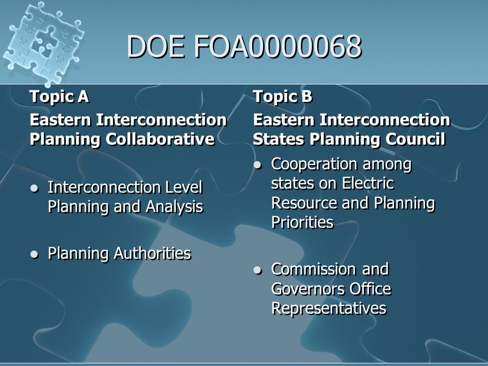 Potential Funding Sources Short Term DOE (non- ARRA) Other as identified Long Term Federal Agencies (EPA, DOE) Ad Hoc Foundation for specific project Others as identified