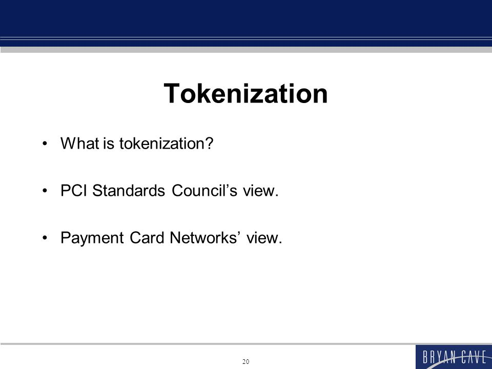 Tokenization vs E2E Encryption Tokenization Tokenization Pros: Account data is not stored or sent in its real form at all (possibly on the first initial transaction but not afterward).