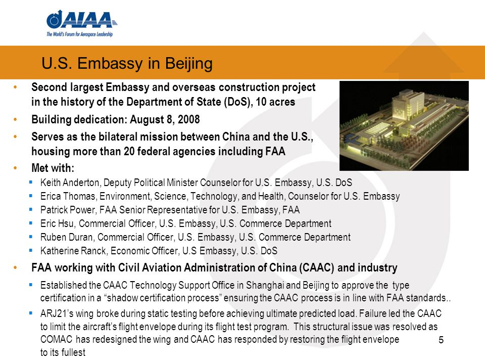 U.S. Embassy in Beijing Second largest Embassy and overseas construction project in the history of the Department of State (DoS), 10 acres Building de