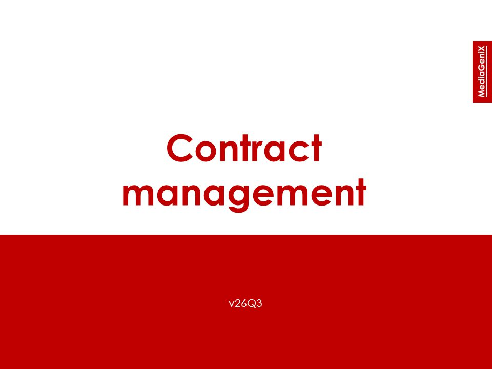Contract management v26Q3