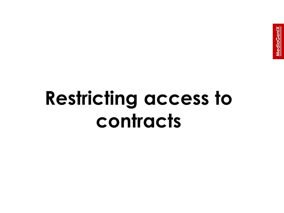 Restricting access to contracts