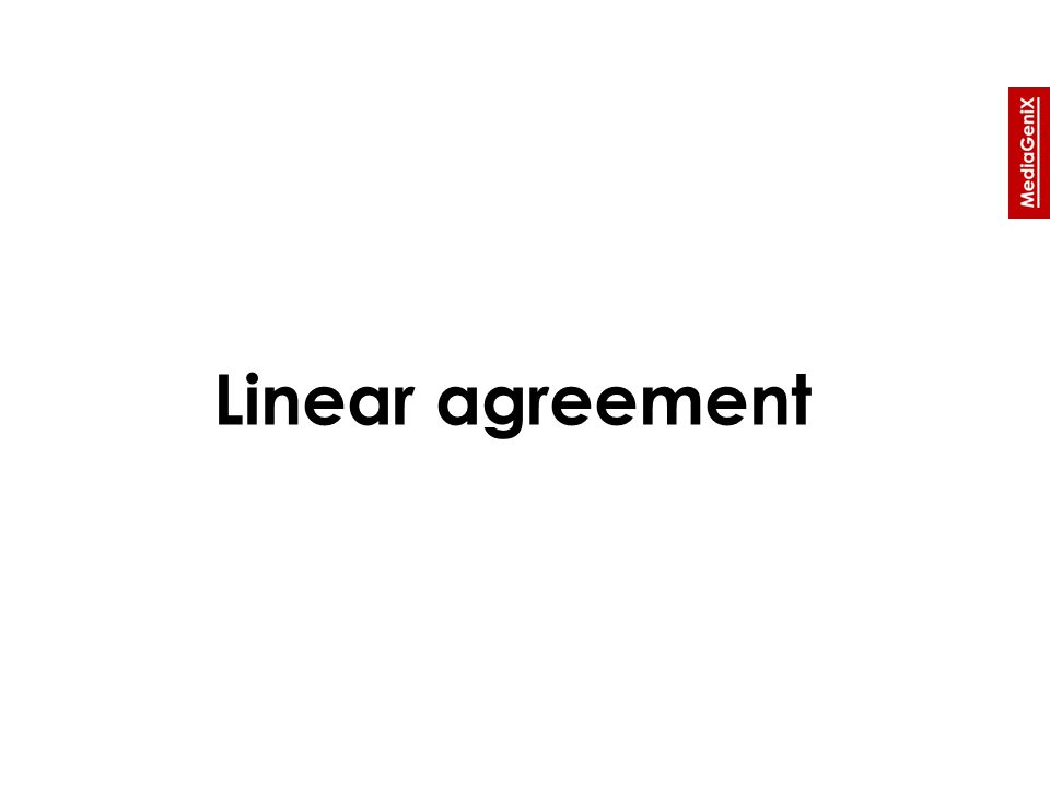 Linear agreement