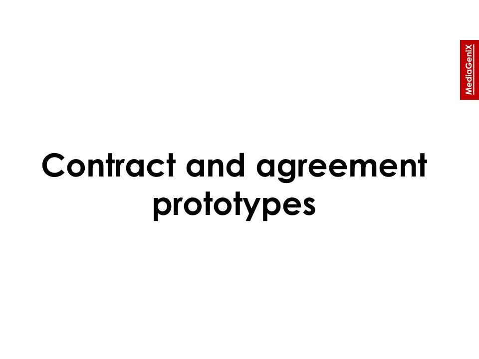 Contract and agreement prototypes